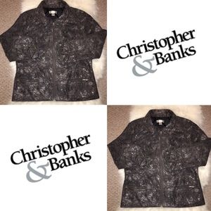 Christopher & Banks Charcoal/Silver Jacket